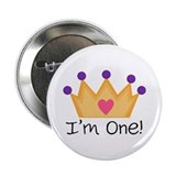 Princess 1st Birthday 2.25&quot; Button