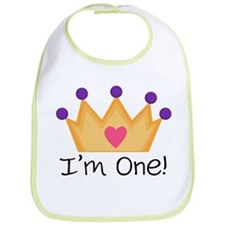 Princess 1st Birthday Bib