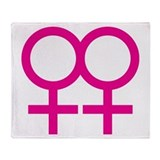 Lesbian love Throw Blanket