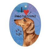Dachshund Oval Ornament