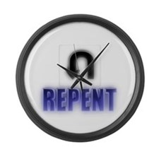 Repents Large Wall Clock