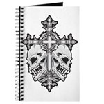 Gothic Cross with Skulls Journal