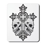 Gothic Cross with Skulls Mousepad