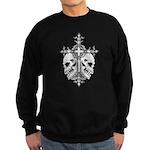 Gothic Cross with Skulls Sweatshirt (dark)