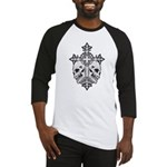 Gothic Cross with Skulls Baseball Jersey