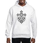 Gothic Cross with Skulls Hooded Sweatshirt
