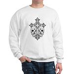 Gothic Cross with Skulls Sweatshirt