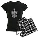Gothic Cross with Skulls Women's Dark Pajamas