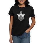 Gothic Cross with Skulls Women's Dark T-Shirt
