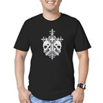 Gothic Cross with Skulls Men's Fitted T-Shirt (dar
