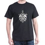 Gothic Cross with Skulls Dark T-Shirt