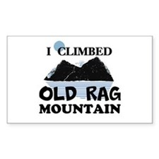 I Climbed Old Rag Mountain Decal