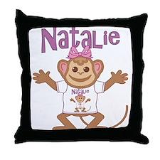 Little Monkey Natalie Throw Pillow