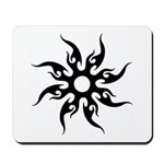 Tribal Sun (Black) Mousepad