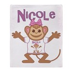 Little Monkey Nicole Throw Blanket