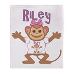 Little Monkey Riley Throw Blanket