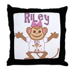 Little Monkey Riley Throw Pillow