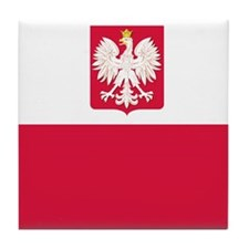 Flag of Poland Tile Coaster