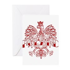 Poland Ink Red Eagle Greeting Cards (Pk of 10)