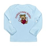 Christmas Baby Teddy Bear Long Sleeve Infant T-Shi