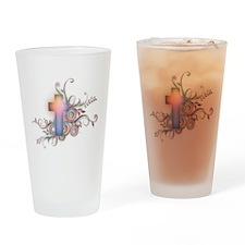 Swirls N Cross Drinking Glass