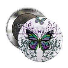 "MultiColored Butterflies 2.25"" Button (100 pack)"