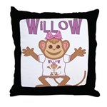Little Monkey Willow Throw Pillow