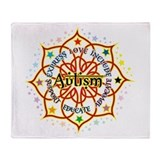 Autism Lotus Throw Blanket