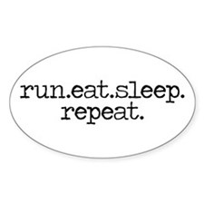 run eat sleep repeat Decal