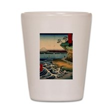 Japanese Ukiyo-e Mt. Fuji Shot Glass