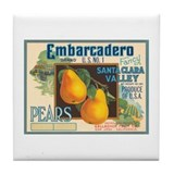 Two Pears Tile Coaster