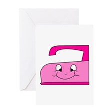 Hot Pink Iron Greeting Card
