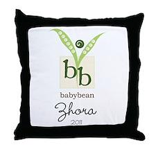 BabyBean Personalized Throw Pillow