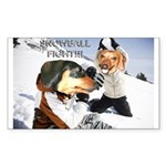 Snowball Fight Sticker (Rectangle 10 pk)