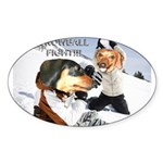 Snowball Fight Sticker (Oval 10 pk)