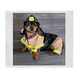 Fireman Doxie Throw Blanket