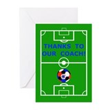 Soccer Coach Thank You Greeting Cards (Pk of 20)