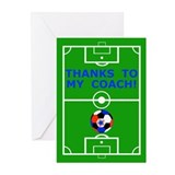 Soccer Coach Thank You Greeting Cards (Pk of 10)