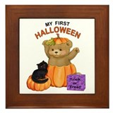 First Halloween Teddy Framed Tile
