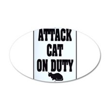 Attack Cat 38.5 x 24.5 Oval Wall Peel