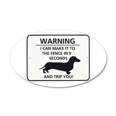 Warning Trip You 38.5 x 24.5 Oval Wall Peel