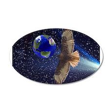 Night Hawk World 22x14 Oval Wall Peel