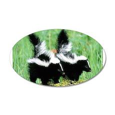 Two Skunks 38.5 x 24.5 Oval Wall Peel