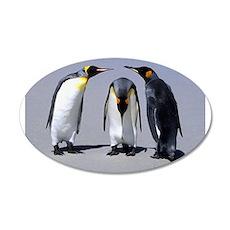 Three Penguins 22x14 Oval Wall Peel
