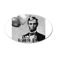 Lincoln's Birthday 22x14 Oval Wall Peel