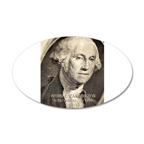 George Washington 38.5 x 24.5 Oval Wall Peel