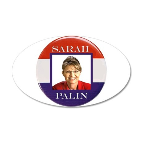 Sarah Palin 22x14 Oval Wall Peel