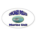 Chicago PD Marine Unit Sticker (Oval 50 pk)