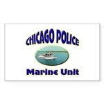 Chicago PD Marine Unit Sticker (Rectangle)