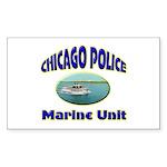Chicago PD Marine Unit Sticker (Rectangle)